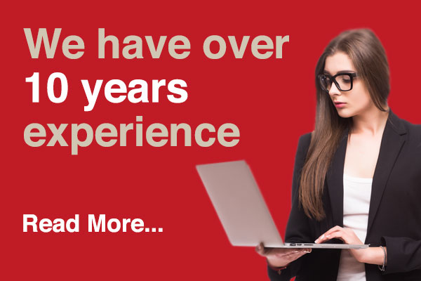 We have over 10 years experience